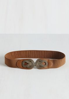 Boldly Buckled Belt in Cognac From The Plus Size Fashion Community At www.VintageAndCurvy.com