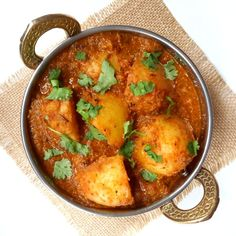 A delicious potato curry from northern India. Not too spicy but with a complex mix of spices and a tomato-based gravy. Impress your friends and make your neighbours jealous with the wonderful aromas escaping from your kitchen!