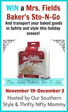 Want to get your holiday treats to their destination safely? You can trust Mrs Fields Sto-N-Go to get them there looking like they just came out of the oven