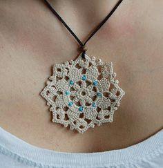 Crochet Jewelry Idea - Colier dantelat <3