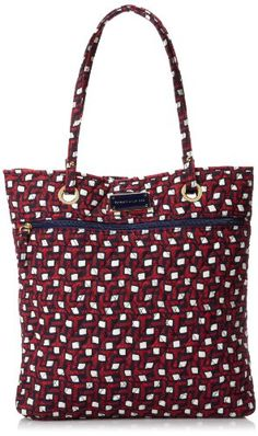 Tommy Hilfiger Printed North South Tote - http://handbagscouture.net/brands/tommy-hilfiger/tommy-hilfiger-printed-north-south-tote/