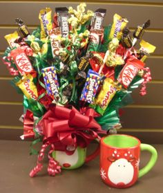 Jingle All the Way Christmas Candy Bouquet