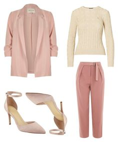 """think pink"" by shanitadinda on Polyvore featuring Topshop, River Island and Marc Fisher"