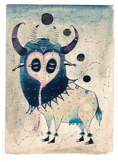"""""""Nodo Lunar"""" Acrylic paint in old paper. 30 x 20 cmts."""