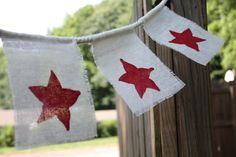 Starfruit July 4th Bunting - DIY stamping project!