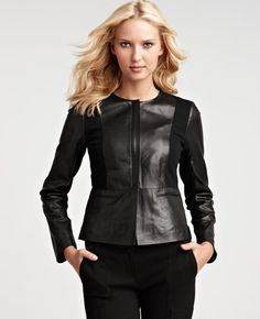 ann taylor leather jacket