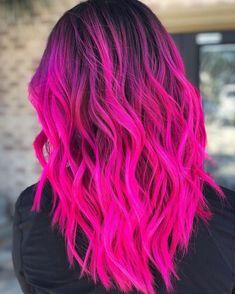 The 13 Hottest Mermaid Hair Color Ideas You'll See in 2019 - Style My Hairs Vivid Hair Color, Cute Hair Colors, Pretty Hair Color, Bright Hair Colors, Beautiful Hair Color, Hair Color Purple, Hair Dye Colors, Bright Coloured Hair, Colourful Hair