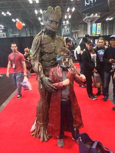Love that a dad and his kid did this together!   Groot and Star Lord - The Very Best Cosplay From New York Comic-Con 2014
