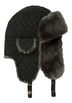0d53e2aabb9 Tesco F Quilted faux fur trapper hat Trapper Hats