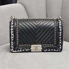 0a10d9d30d08 Chanel Old Medium Boy Chanel Jacket Bag A67086 Black 2017 Chanel Jacket, Chanel  Boy Bag