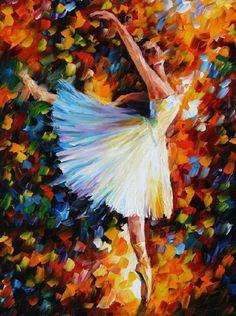 La Colorida Pintura de Leonid Afremov  colores  ilustración arte