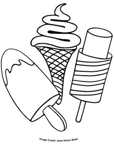 ice cream coloring pages - Google Search