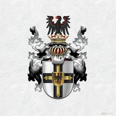 Teutonic Order - Coat Of Arms -  Digital Art by Serge Averbukh