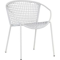 sophia silver dining chair  | CB2