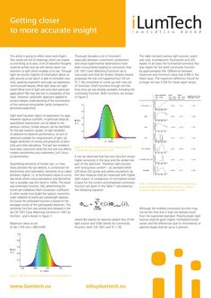 The article brings the  explanation of the Luminosity function and drafted Luminosity function as well as the comparison of the calcualted lm output for normalized spectral power distribution of different light sources. What is important to take into account in the case of the photometry and colorimetry when we compare the lighting sources in order to comply with the sensitivity of human eye, called photopic regime.