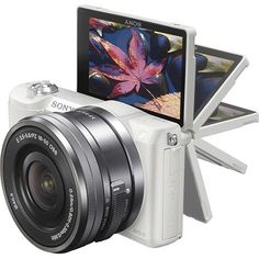 Sony - Alpha a5100 Mirrorless Camera with 16-50mm Retractable Lens | White #SonyCamera