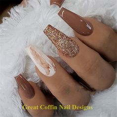 35 + 2019 Hot Fashion Sarg Nagel Trend Ideen 20 Trendy Coffin Nail Art Designs Get more photo , Long Nail Designs, Fall Nail Designs, Acrylic Nail Designs, Acrylic Colors, Marble Acrylic Nails, Fall Acrylic Nails, Black Marble Nails, Acrylic Art, Coffin Nails Long