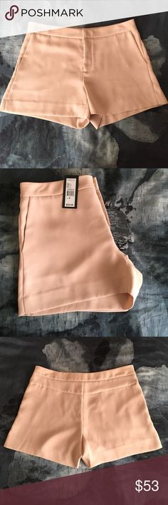 KENNETH COLE FORMAL TAN ROSE SHORTS💕 Cute Tan Rose color KENNETH COLE FORMAL SHORTS SLACK MATERIAL BRAND NEW VERY CHIC... pair with cute blouse any color black or most solid..with stockings make it stylish 💕 Kenneth Cole Shorts