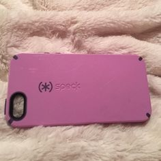 Purple Speck iPhone5 Case Used. Very dependent Speck Accessories Phone Cases