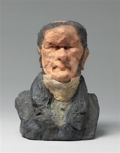 Augustus Ganneron Hippolyte Industrialist and MP by Honore Daumier Hand Sculpture, Sculptures, Honore Daumier, Ceramic Figures, Art Database, Classical Art, Wood Engraving, French Artists, Caricature