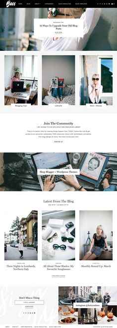 Kotryna Bass's lifestyle and blogging tips blog running on Station Seven's WordPress theme Analogue. She creates a bold, yet clean and airy look with their newest theme! Click through to get it for yourself.