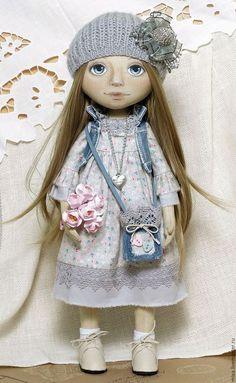 Коллекционные куклы ручной работы. Ярмарка Мастеров - ручная работа. Купить Ася_повтор. Handmade. Интерьерная кукла, подарок девушке, джинса