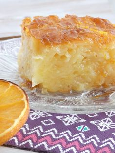 Portokalopita-Greek orange cake with syrup - Sweets - Apple Cake Recipes, Baking Recipes, Amish Recipes, Dutch Recipes, Food Cakes, Cupcake Cakes, Sweets Cake, Cupcakes, Greek Cake
