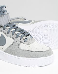 separation shoes 166f1 2b55a Image 4 of Nike Air Force 1 Hi Trainers In Grey Suede Nike Shox For Women