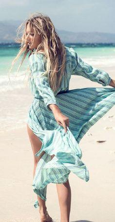 Beach wear   Midi light dress