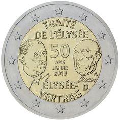 Alemania 2 euros conmemorativos 2013 Eliseo