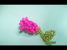 Beads flower step by step - YouTube