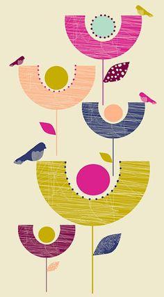 the print tree via print & pattern Gravure Illustration, Pattern Illustration, Textures Patterns, Print Patterns, Mid Century Art, Surface Pattern Design, Print Pattern Design, Tree Print, Grafik Design
