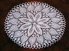Kunststricken Deckchen von Maschen und mehr auf DaWanda.com Crochet Doily Patterns, Crochet Motif, Crochet Doilies, Knit Crochet, Barn Quilts, Lace Knitting, Tatting, Diy And Crafts, Etsy