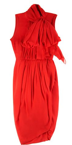 GIAMBATTISTA VALLI   Garza Silk Dress with Bow - Lyst