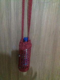Garrafinha de crochê ideal para caminhada