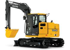 Excavator with reduced-tail-swing | 85G | John Deere US