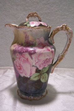 antique limoges chocolate pot | Chocolate pot made and decorated by Bawo & Dotter (Elite Works ...