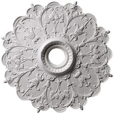 """Victorian (4""""center hole) 29'' dia x 1 7/8''d, Plaster, MADE TO ORDER, NOT RETURNABLE"""