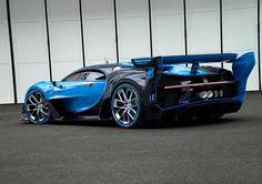 Bugatti Vision Gran Turismo Live: As promised, Bugatti revealed the Vision Gran Turismo's live version at the 2015 Frankfurt Auto Show. Many car manufacturers Bugatti Veyron, Bugatti Cars, Frankfurt, Dream Cars, Volkswagen, Super Sport Cars, Super Car, Car And Driver, Car Manufacturers