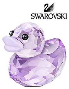 Swarovski Colored Crystal Figurine Lovlots Happy Duck - Lovely Lucy #5155722 New