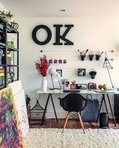 5 ideias de como usar varal na decor do seu office - varal de objetos