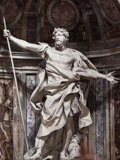 Gian Lorenzo Bernini - Longinus at the St. Peter Basilica in Rome