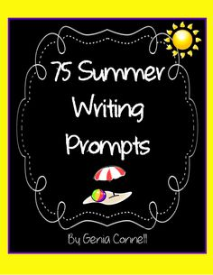A writing prompt for each day of the summer to keep kids writing - totally adding to the summer send off binders!