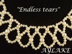 Seed bead jewelry Endless tears Easy, elegant netting ~ Seed Bead Tutorials Discovred by : Linda Linebaugh Seed Bead Jewelry, Beaded Jewelry, Handmade Jewelry, Beaded Necklace, Beaded Bracelets, Jewellery, Necklaces, Jewelry Patterns, Beading Patterns