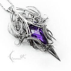 Fully handmade work: necklace technique: wire-wrapping materials: sterling silver, fine silver, amethyst Facebook page www.facebook.com/Lunarieen Online shop www.lunarieenuk.co.uk/en/ Etsy sh...