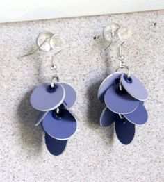21 paint chip craft ideas- this one: dangle-y earrings in whatever color you wish