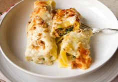 Italian Food Forever » Roasted Butternut Squash, Ricotta, & Spinach Cannelloni