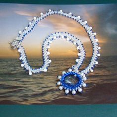 Remembering Greece Beadwoven Necklace | AngelqueCreations - Jewelry on ArtFire