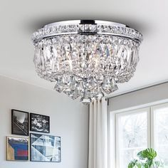 Shop for Chimory Chrome and Crystal 14-inch Round Ceiling Lamp. Get free delivery at Overstock.com - Your Online Home Decor Shop! Get 5% in rewards with Club O!