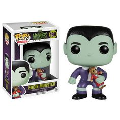 Funko Pop TV The Munsters - Eddie Munster Vinyl Figure for sale online The Munsters, Munsters Grandpa, Herman Munster, Lily Munster, Pop Vinyl Figures, Hades, Fallout, Legos, Funko Pop Dolls